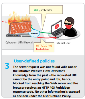 Cyberoam WAF , user define policies