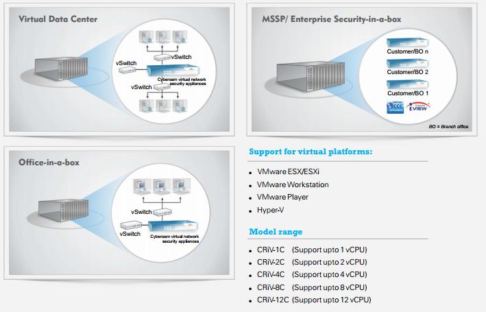 Cyberoam Virtual Infrastracture Models