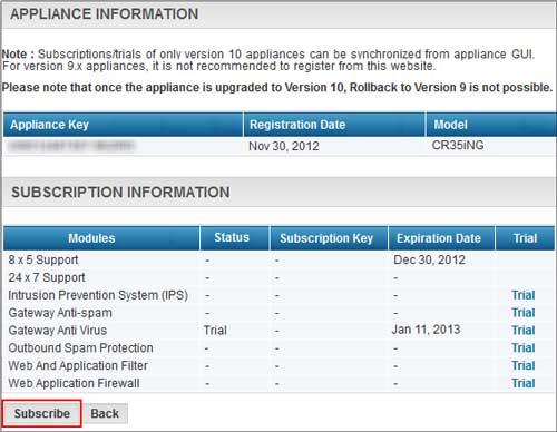 در این مرحله از فعالسازی لایسنس سایبروم، گزینه subscribe را انتخاب کنید.